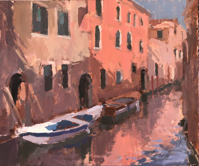 #391 'Afternoon Reflections, Venice' 10×12″