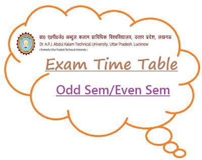 AKTU Time Table 2019