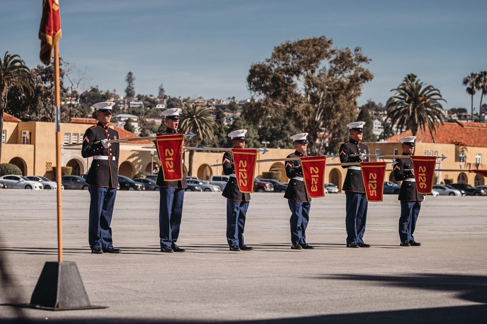 Morning Owl Fine Art Photography Southern California Marine Recruit Graduation 2nd Battalion Fox Company Platoons 2121 2127 Mcrd San Diego Ca