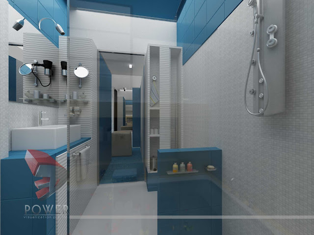 Bathroom Interior Design,3d architectural rendering