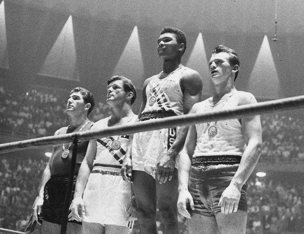 Muhammad Ali won an Olympic gold medal as a light heavyweight at the age of 18