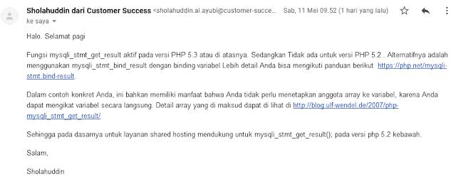 Solusi mysqli_stmt_get_result undefined dari HOSTINGER