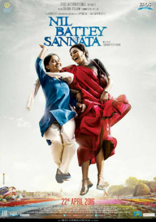 Nil Battey Sannata (2015) WEBRip 300Mb Full Hindi Movie 480p
