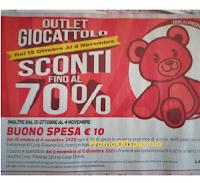 Coop Outlet Giocattolo : sconti fino al 70€ e subito un buono spesa da 10 euro!