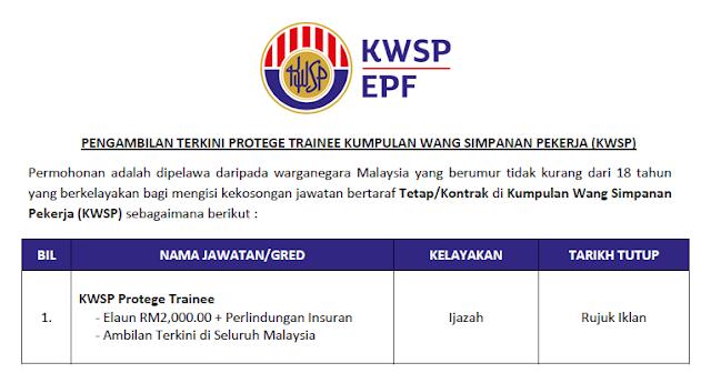 protege trainee kwsp