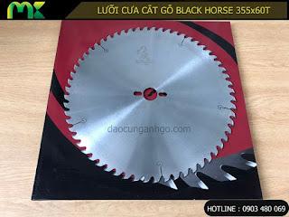 Lưỡi cưa cắt gỗ tự nhiên BLACK HORSE 355x60T