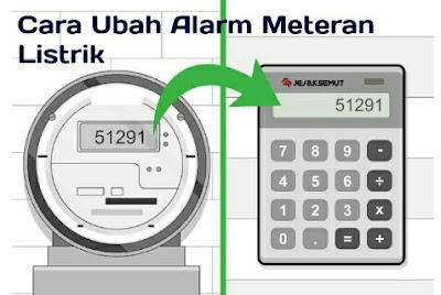 cara merubah alarm token listrik
