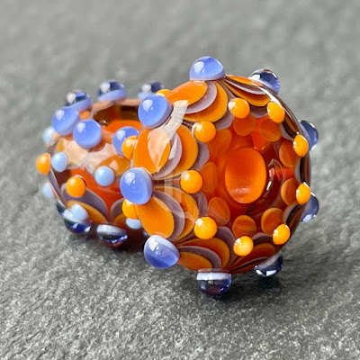 Handmade lampwork glass big hole beads by Laura Sparling