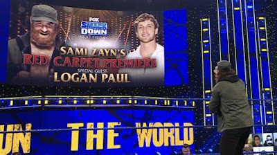 Sami Zayn Logan Paul WrestleMania 37 WWE SmackDown