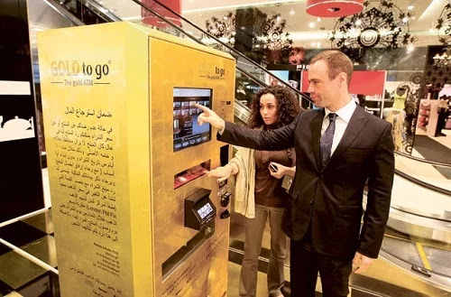 Gold to go is a gold vending machine from TG Gold-Super-Markt Group