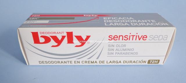 byly desodorante crema ingredientes