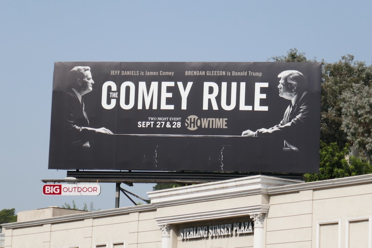 Comey Rule TV series billboard