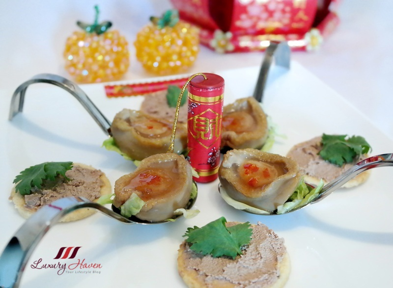 lunar new year dishes abalone with goose liver