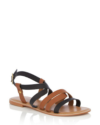 black and tan gladiator sandal