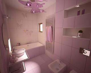 Moderno baño relajante