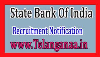 SBI (State Bank of India) Recruitment Notification 2017