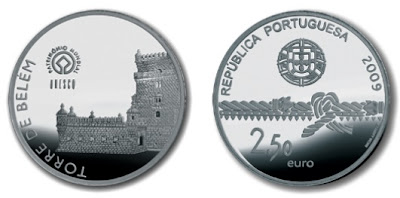 Памятная монета: Башня Белень, Лиссабон. Португалия.