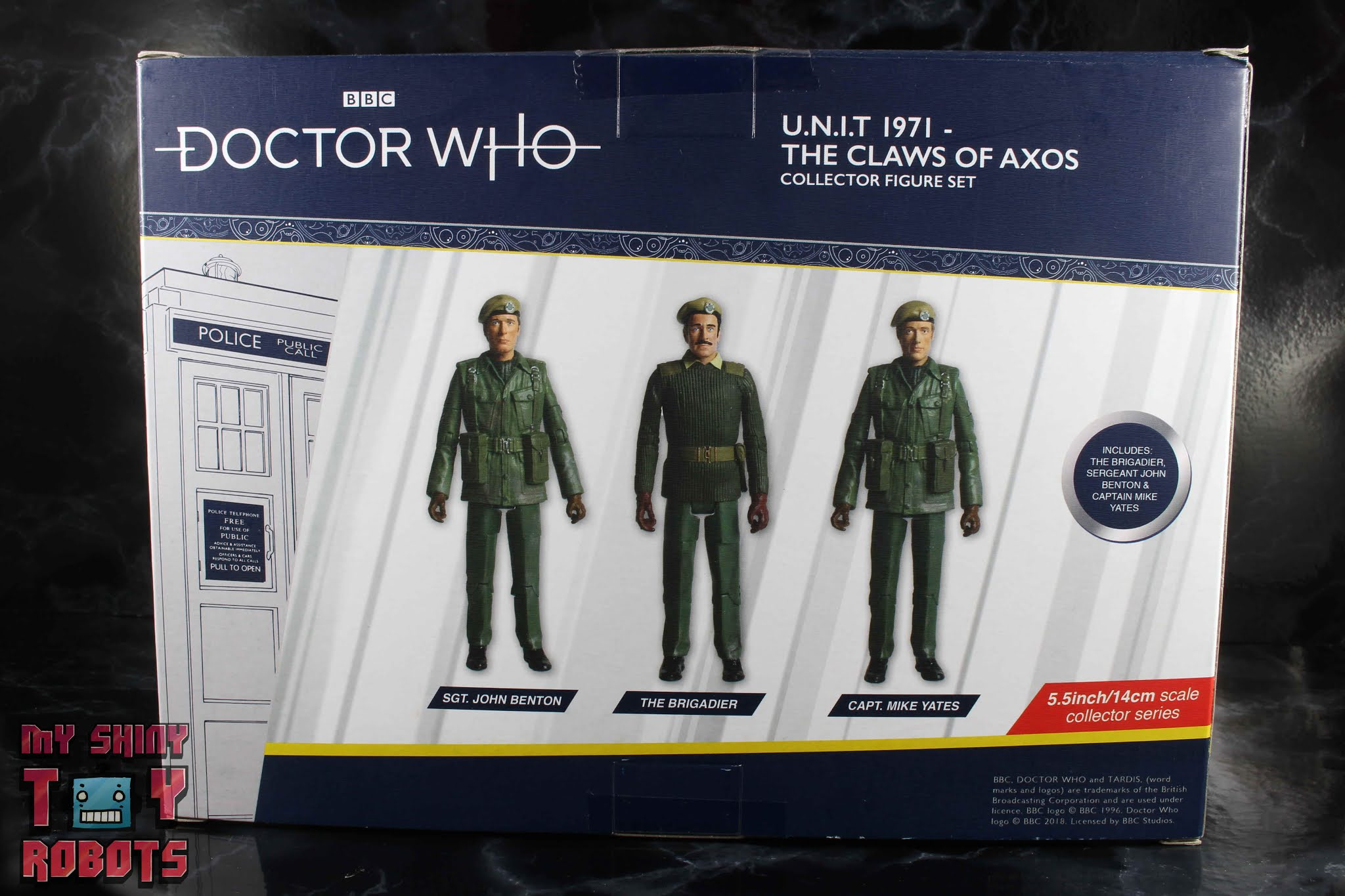 "Doctor Who Action Figure Capt Mike Yates Unit 71 gli artigli di Axos 5/"" Modellino"