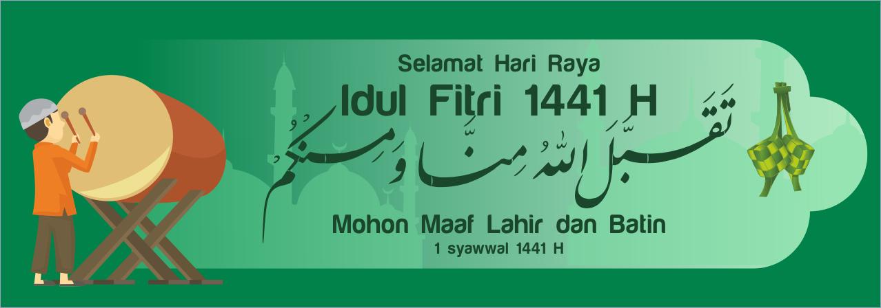 8 Spanduk Banner Baliho Idul Fitri 1441 2020 Cdr Terbaik