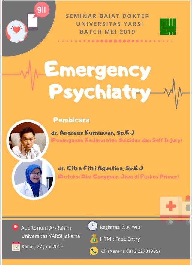 "Seminar ""Emergency Psychiatry in Daily Practice"" 27 Juni 2019"