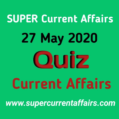 27 May 2020 Current Affairs Quiz in Hindi