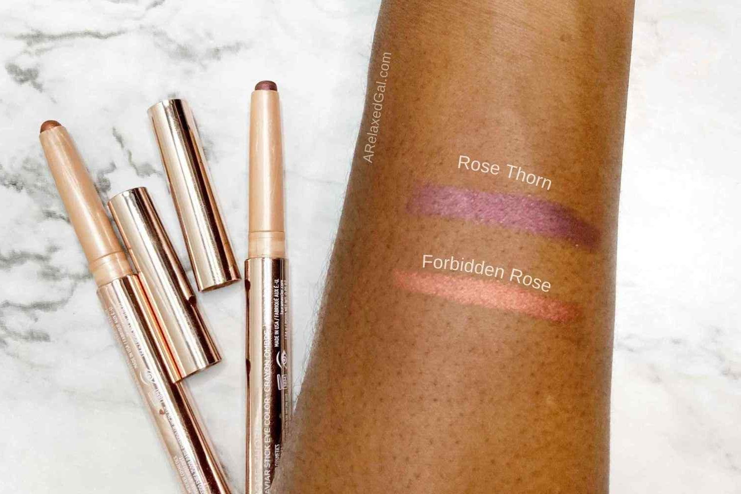 Laura Mercier RoseGlow Caviar Stick Eye Color Swatches | A Relaxed Gal