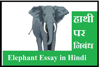 Essay on Elephant in Hindi