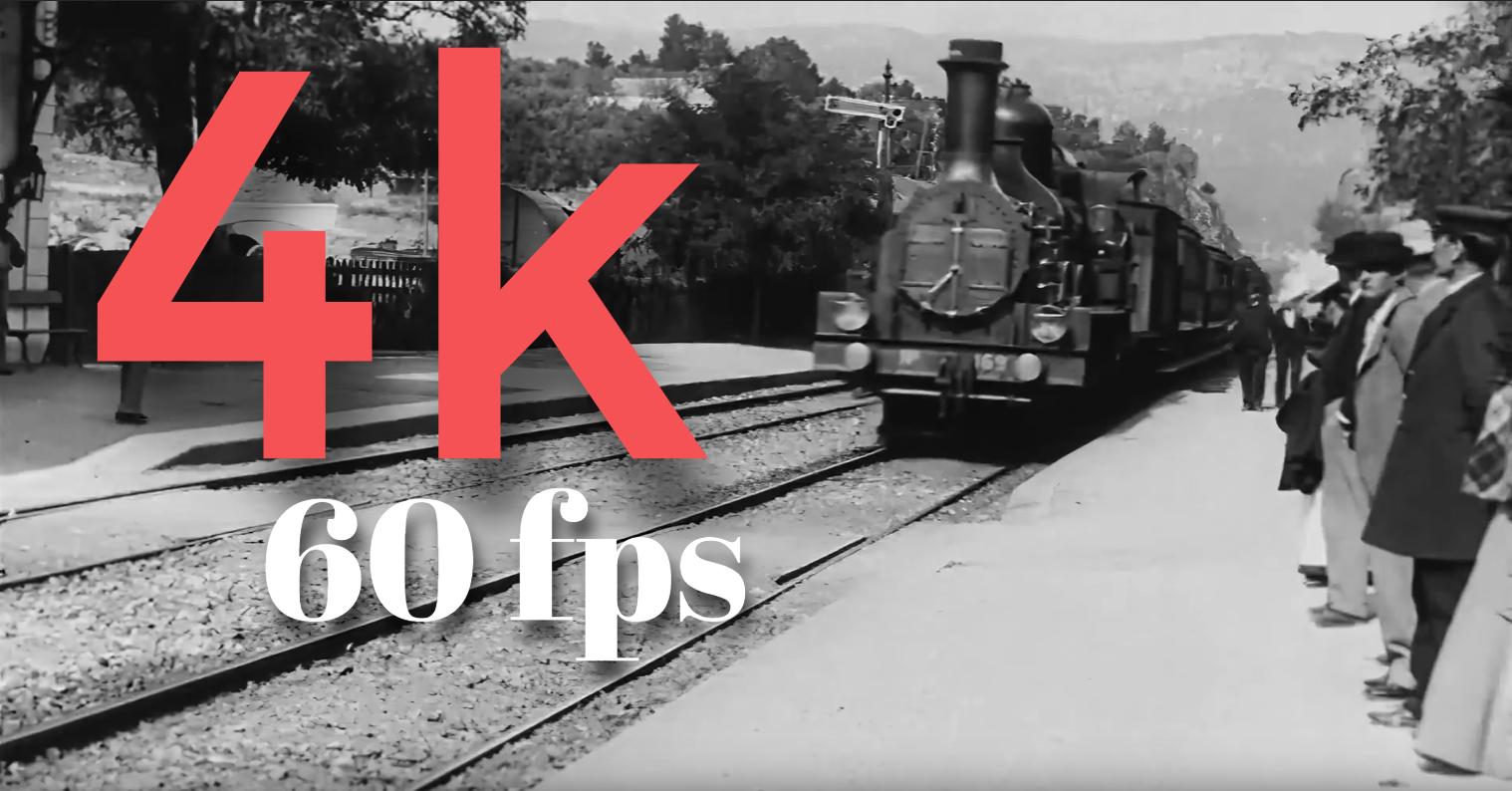 """4K - ში გაცოცხლებული ისტორია 1890 : პარიზი, ნიუ ორკი, მოსკოვი  და ლუმიერების ცნობილი """"მატარებელი"""""""