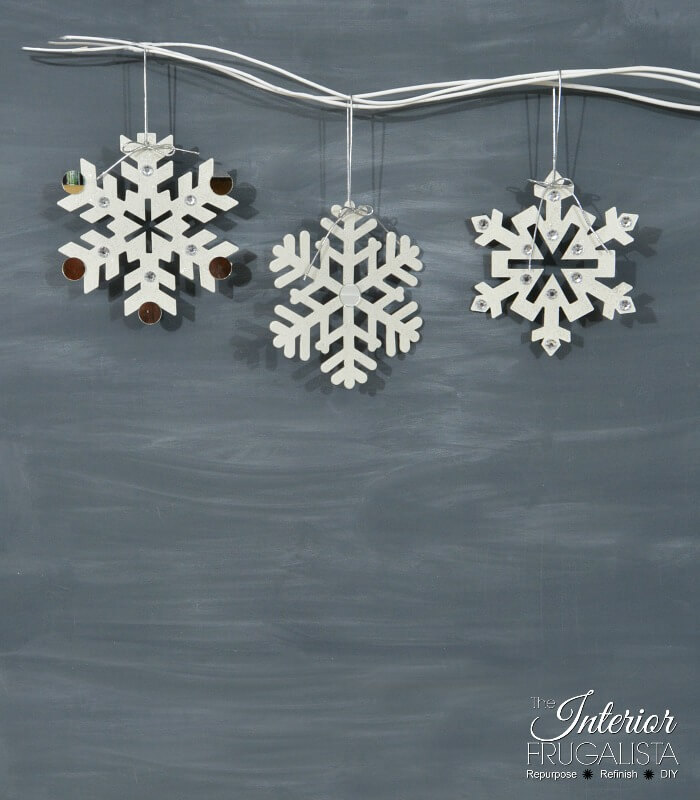 Dollar Store Snowflake Ornament Craft
