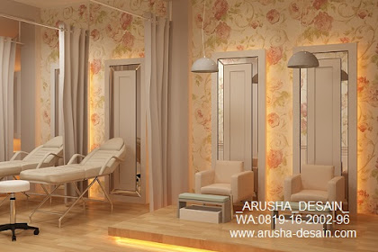 Desain Salon Kecantikan Menicure Pedicure Ranjang Teraphy