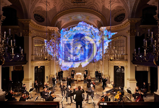 HAndel: Messiah - Academy of St Martin in the Fields with projections by Nina Dunn Studio (Photo David Levene)