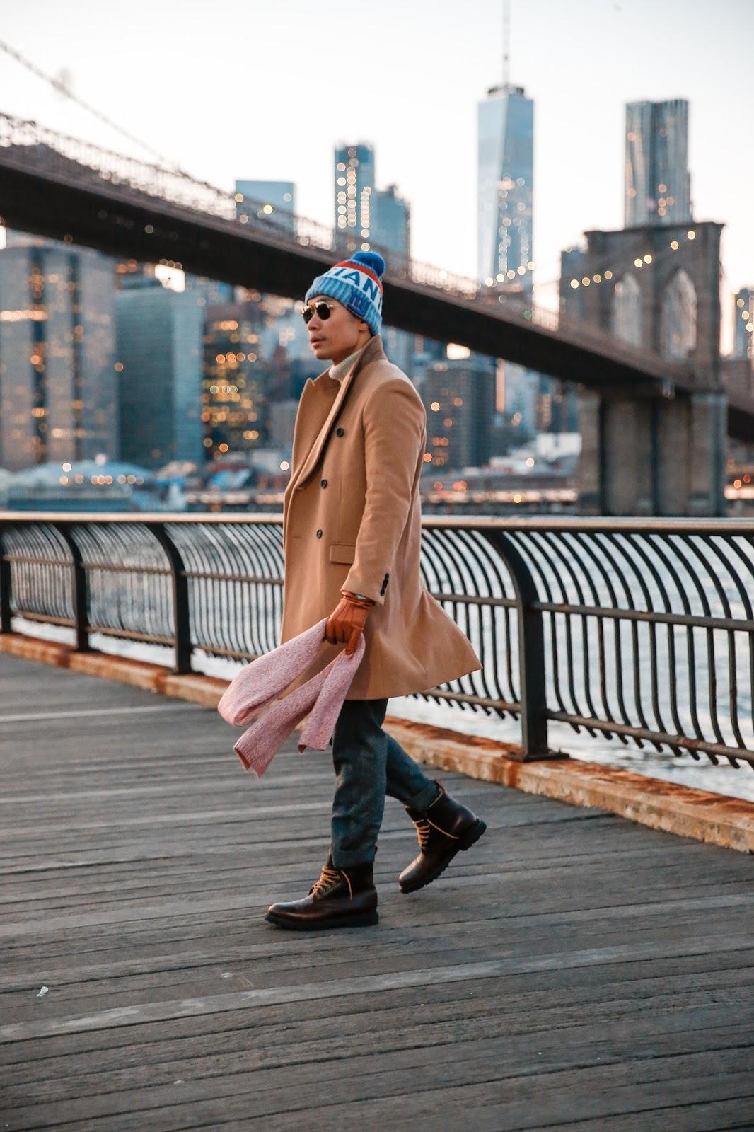 Winter Menswear Look, NFL New Era Knit Hat, Levitate Style
