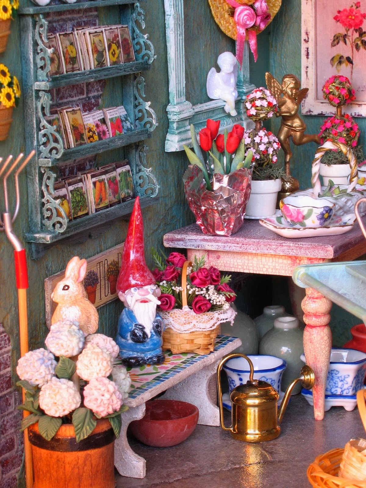 BluKatKraft: Dollhouse Miniatures: Garden and Flower Shop ...