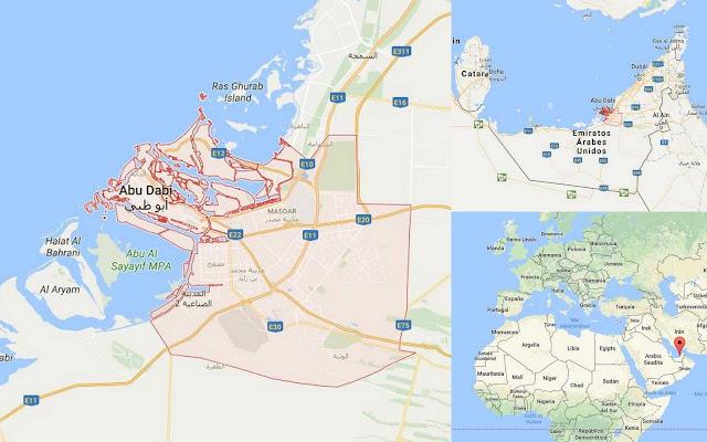mapa localización Abu Dhabi