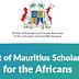 Bourses d'études 2018  du gouvernement de Maurice pour les Africains