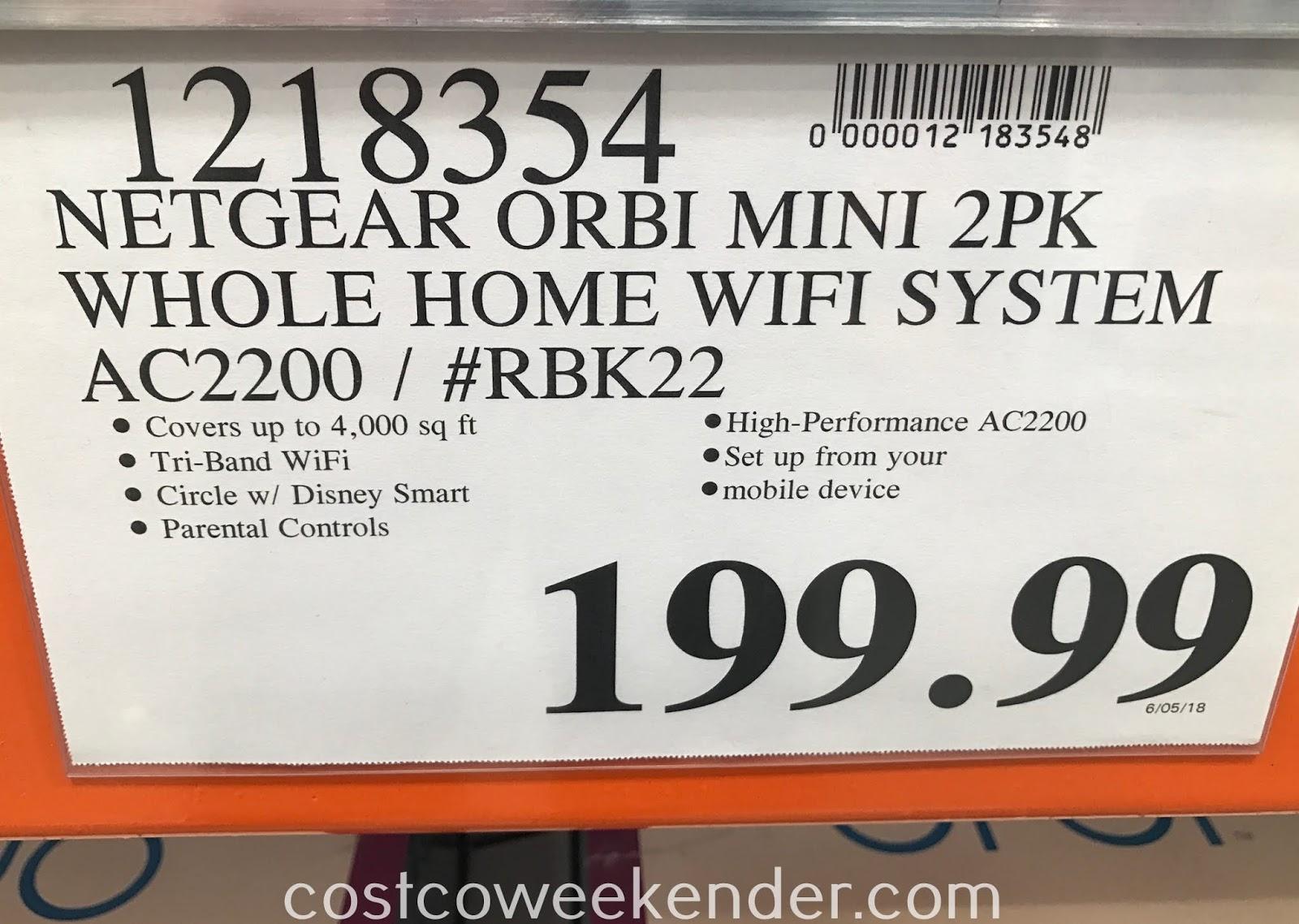 Netgear Orbi WiFi System AC2200 (RBK22) (2 pack) | Costco