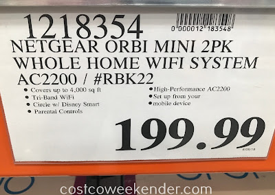 Deal for the Netgear Orbi Mini WiFi System AC2200 (RBK22) at Costco