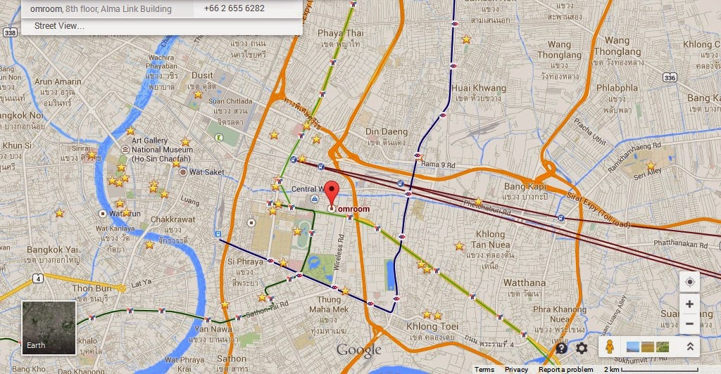 Omroom Bangkok Location Attractions Map,Location Attractions Map of Omroom Bangkok Thailand,Omroom Bangkok Thailand accommodation destinations hotels map reviews photos pictures