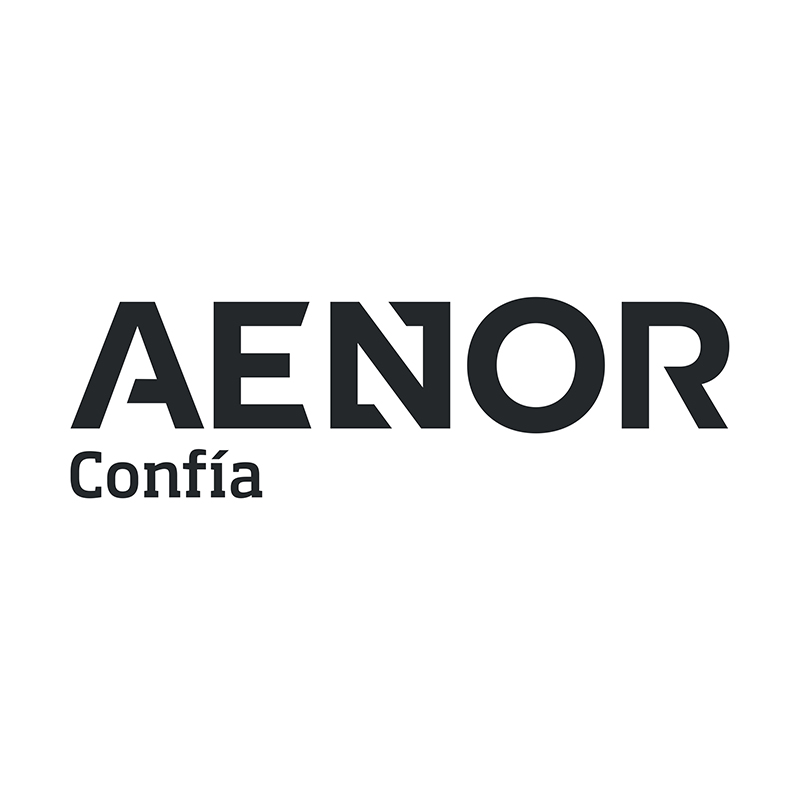 Logo AENOR - Auspiciador III Congreso Internacional de la Industria Plástica, Lima, Perú, abril 2020