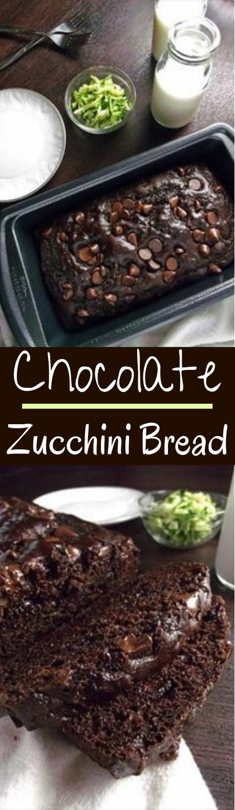 Healthy Chocolate Zucchini Bread #cake #baking
