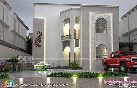 Front elevation of Arabic home architecture
