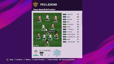 eFootball PES 2020 My Classic Teams by Jiangwei