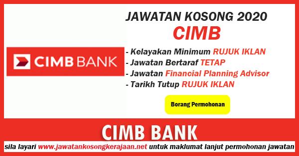 Jawatan kosong cimb bank berhad