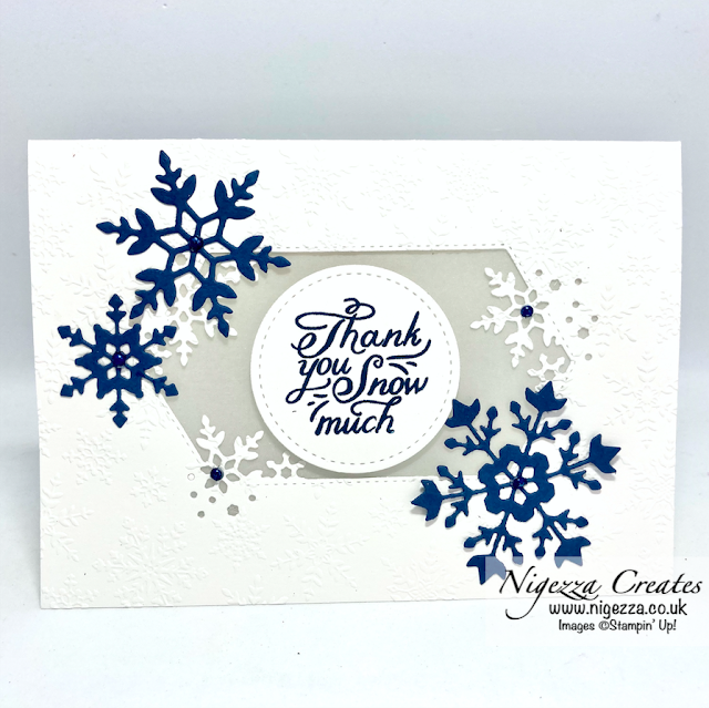 Snowflake Wishes Thank You Card Tutorial