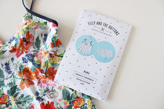 Fifi pyjamas - sewing pattern from Tilly and the Buttons