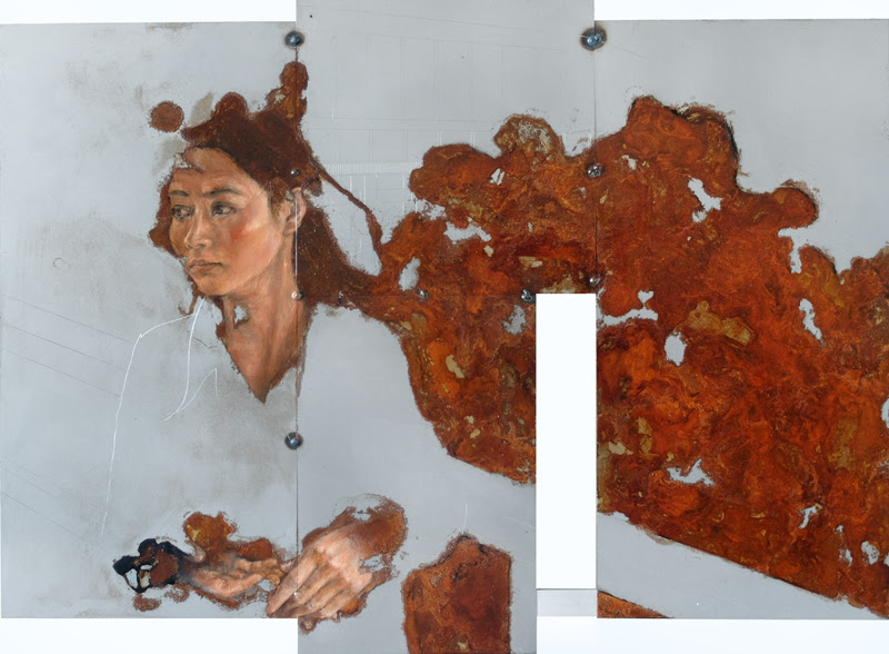 Figurative Paintings by Sabatino Cersosimo on Metal.