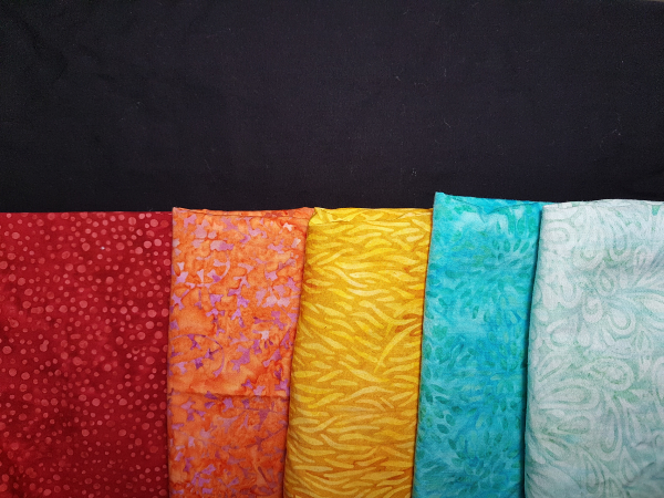 Fabric pull of Island Batik fabrics | DevotedQuilter.com