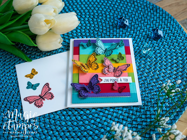 Carte Stampin' Up! créée avec le jeu d'étampes Gala de papillons
