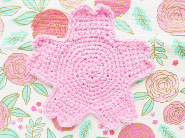 Sakura Coaster Crochet Pattern