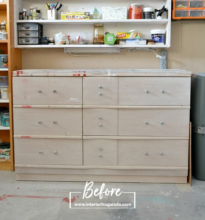 Faux Apothecary Dresser Before